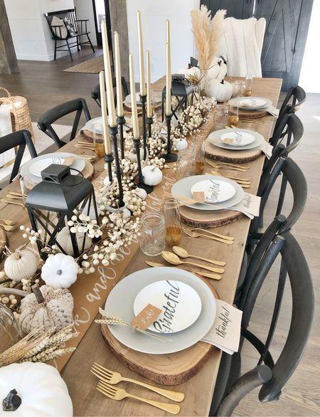 H O M E \ #Thanksgiving table🦃🦃  #thanksgivingdecor #thanksgivingtable #table #pumpkins #tablescape  #LTKHoliday #LTKhome #LTKSeasonal