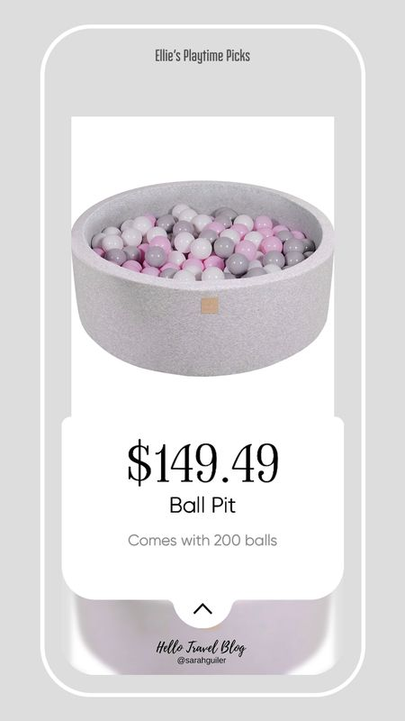 Ball pit. Nursery. Baby room. Playroom. Ball pit with balls. Baby girl nursery. Amazon home. Amazon finds.   #LTKhome #LTKbaby #LTKfamily