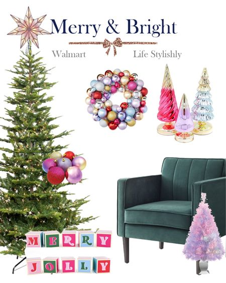 Merry and Bright Christmas home finds from @walmart #walmarthome    #LTKhome