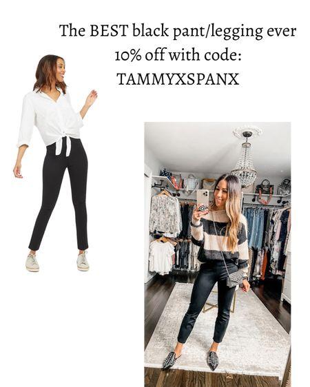 Code: tammyxspanx for 10% off Spanx, black pants   #LTKunder100 #LTKsalealert