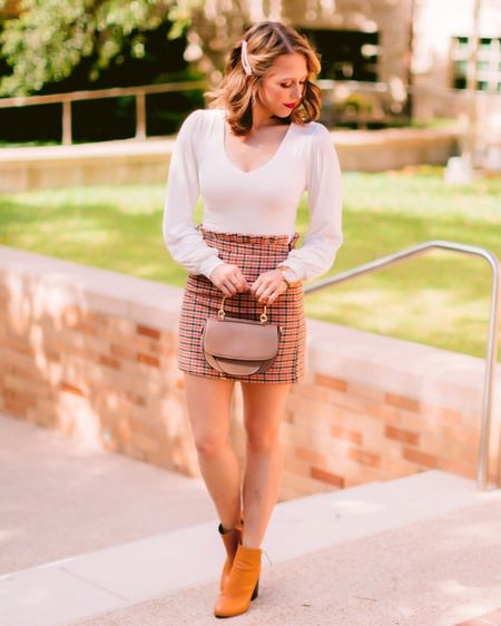 """""""It's my most capable looking outfit!""""  Is anyone else so excited these Clueless-esque checked mini skirts have come back into style? All of my 90's romcom dreams are coming true! I'm sharing this Cher Holowitz- inspired outfit #ontheblog today! What's your fav 90's chick flick? . . . You can get all of my outfit details by going to the link in my bio or by following me in the @liketoknow.it app ✨ http://liketk.it/2GAof #liketkit"""