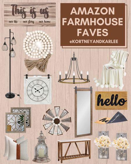 Amazon Farmhouse Favorites!!  Amazon farmhouse decor | amazon farmhouse home decor | farmhouse decor from amazon | amazon home decor | affordable farmhouse decor | affordable farmhouse home decor | farmhouse home decor | farmhouse click | cozy throw blanket | amazon finds | amazon home finds | amazon home favorites | Kortney and Karlee | #Kortneyandkarlee @liketoknow.it #liketkit  #LTKunder50 #LTKunder100 #LTKsalealert #LTKstyletip #LTKSeasonal #LTKhome