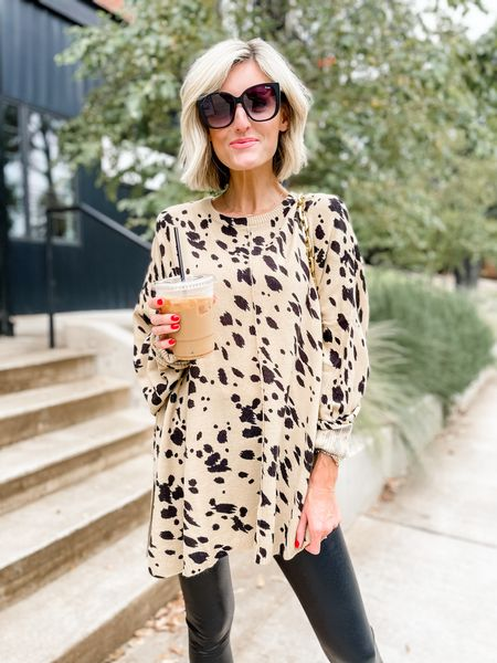 Fun printed sweater for fall! Loverly Grey has paired this with a legging.   #LTKstyletip