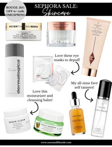 Sephora sale skincare picks! Use code OMGSPRING   #LTKsalealert #LTKunder100 #LTKbeauty