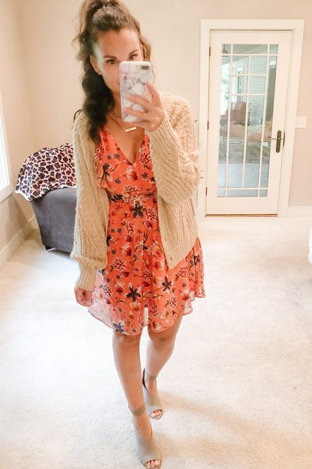 Off to celebrate an upcoming baby arrival!! I was gifted this dress and am very excited to finally have somewhere to wear it. I've linked similar floral dresses as well as some peep toe bootie options. Happy Saturday!   http://liketk.it/2VueP #liketkit @liketoknow.it