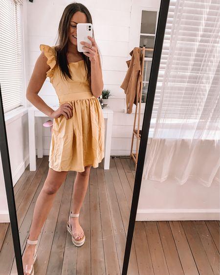 Amazon dress - wearing an XS Amazon sandals - wearing 1/2 size down  Amazon fashion finds Amazon summer dresses amazon spring dresses Amazon dresses #LTKunder50 #LTKswim #LTKtravel http://liketk.it/3aBOE #liketkit @liketoknow.it