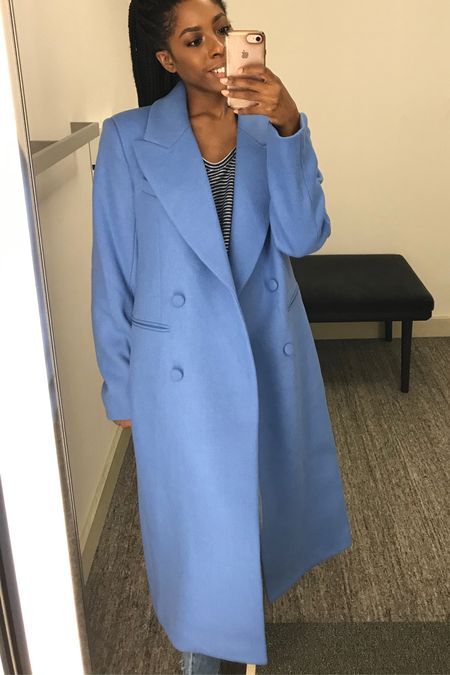 Hello statement coat!! This baby blue floor length duster coat by Ave Les Filles is a timeless investment piece. Get it on sale for $199 at Nordstrom during the N Sale!   #LTKsalealert #LTKworkwear #LTKstyletip