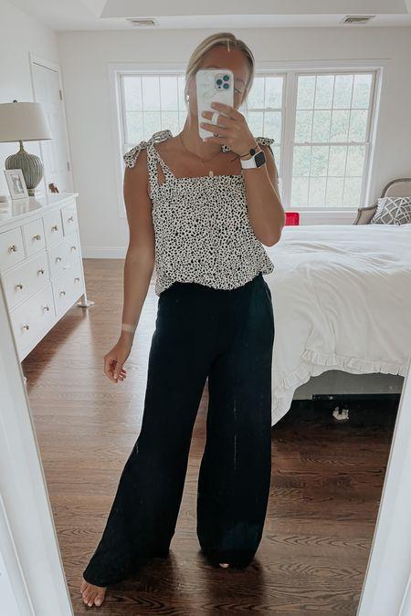 Pink lily tank, beach pants, leopard top, black beach coverup pants, use code stylecusp for 20% off @liketoknow.it http://liketk.it/3hOQr #liketkit