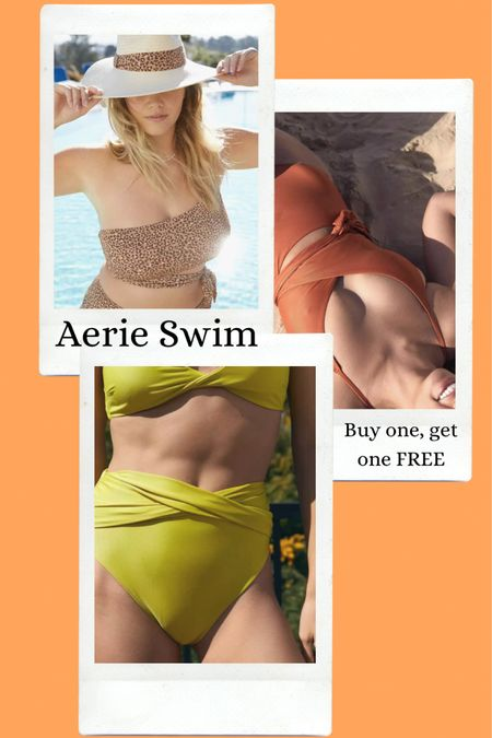 Beat the cold with an Aerie swim sale - buy one, get one FREE! http://liketk.it/38kpS #liketkit @liketoknow.it #LTKunder50 #LTKcurves