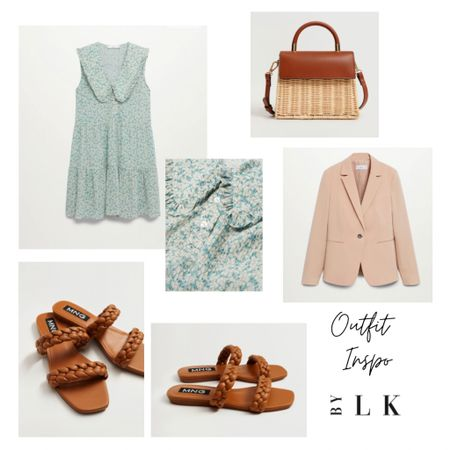 How cute is this baby doll neck dress styled with earthy tones and a fitted blazer to give some shape   @liketoknow.it #liketkit #LTKunder50 #LTKstyletip #LTKunder100 http://liketk.it/3eWEj