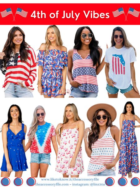 Pink Lily pieces - up to 30% off  Buddy Love - use code FB25 for 25% off   4th of July looks, 4th of July outfits, patriotic outfits, patriotic tees, 30a gear, Stars and Stripes tee, Stars and Stripes tank top, forewords dress, stars dress, mini dress, maxi dress, summer look, summer outfit, vacation outfits, vacation looks, pink lily, buddylove, Buddy love    http://liketk.it/3i04N #liketkit @liketoknow.it #LTKstyletip #LTKsalealert #LTKtravel #LTKseasonal #LTKsummer #LTKholiday