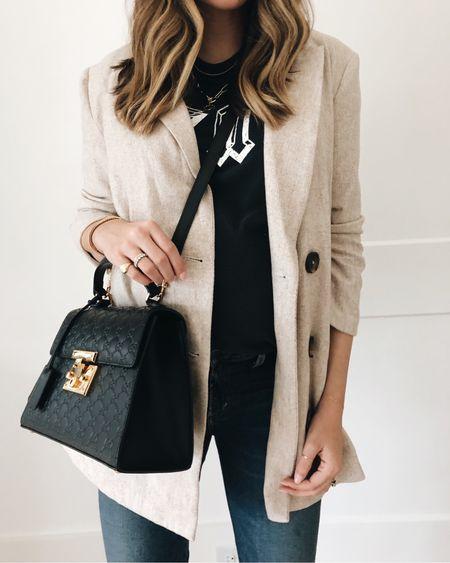 T-shirt and blazer kinda day 🖤 http://liketk.it/2zHLE #liketkit @liketoknow.it  #ltkbump