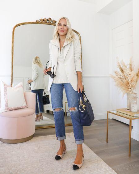 Workwear. Blazer. Dickie. Express workwear. Good American jeans. Hammitt tote    #LTKstyletip #LTKunder100 #LTKworkwear