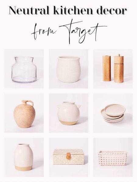 Neutral kitchen decor and accessories from Target. http://liketk.it/3h6Ut #liketkit @liketoknow.it   #LTKhome #LTKunder50 #LTKunder100