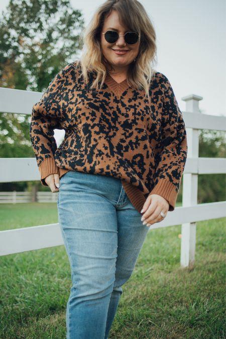 Leopard sweater for plus size babes!   #LTKcurves #LTKstyletip #LTKunder100