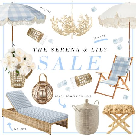 Everything we're shopping from the Serena & Lily 20% off sale! Patio furniture, gingham, and scallops are some of our favs!   #LTKsalealert #LTKSeasonal #LTKhome