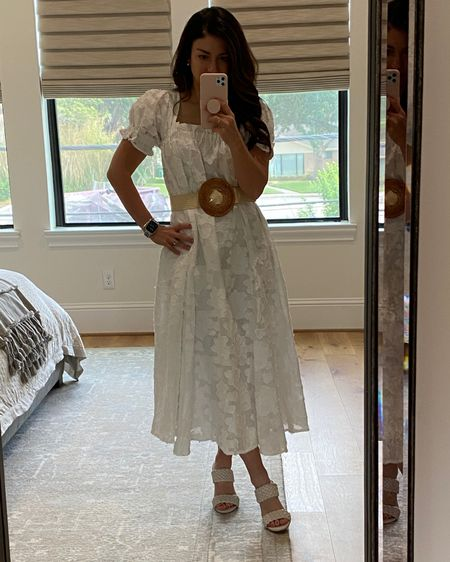 What I wore: the perfect summer white dress for a day of casual meetings  Shop buru // white dresses   #LTKstyletip #LTKshoecrush #LTKworkwear