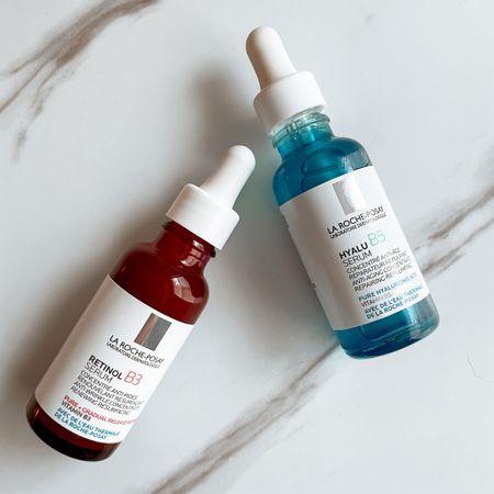 La Roche Posay serums are the best!  #skincare #larocheposay #hyaluronicacid #retinol  #LTKbeauty #LTKunder50
