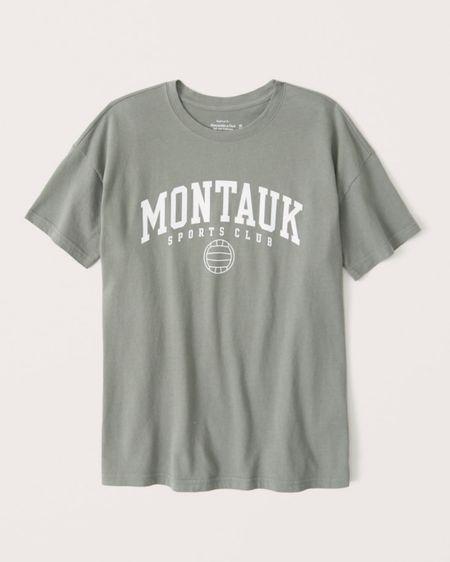 Abercrombie graphic tee, oversized boyfriend shirt, http://liketk.it/3hl5G @liketoknow.it #liketkit #LTKsalealert #LTKstyletip #LTKunder50