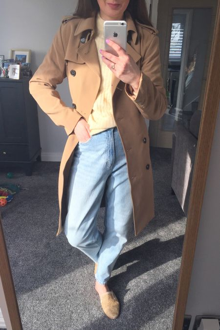Trench coat, tan trench coat, Spring outfit, spring trends, spring 2021, yellow, yellow jumper, knitwear, spring knitwear, spring transition outfit, H&M, H&M jumper, H&M jeans, knitwear outfit, joggers outfit, lilac outfit, lilac joggers, Lee jeans, Lee H&M http://liketk.it/3b3PH #liketkit @liketoknow.it @liketoknow.it.europe #LTKSpringSale #LTKeurope #LTKunder50