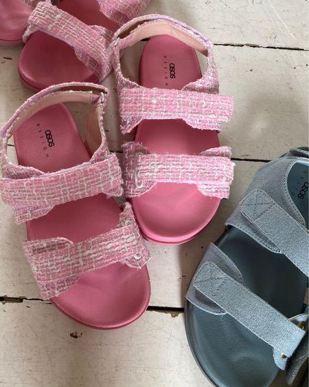 @liketoknow.it #liketkit http://liketk.it/3fx6v asos Velcro link and blue denim factually sandals