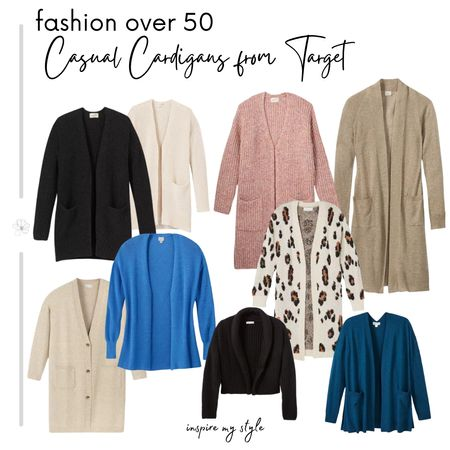 Affordable casual fashion for women over 50 from Target with these great cardigan sweaters, perfect for layering. It makes it easy to shop your closet, mix and match! #fashionover50 #target #affordable #sweater #cardigan #LTKstyletip @liketoknow.it #liketkit Download the LIKEtoKNOW.it app to shop this pic via screenshot http://liketk.it/2Z1Vp