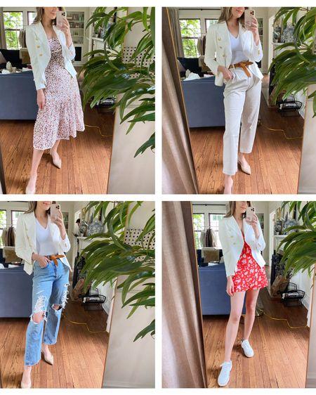 How to style a white blazer #liketkit http://liketk.it/3fUev @liketoknow.it #LTKunder100 #LTKworkwear