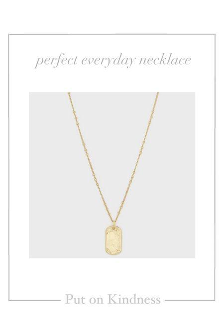 Dainty gold layering dog tag necklace. Initial necklace. Personalized jewelry.   #LTKbacktoschool #LTKunder50 #LTKstyletip