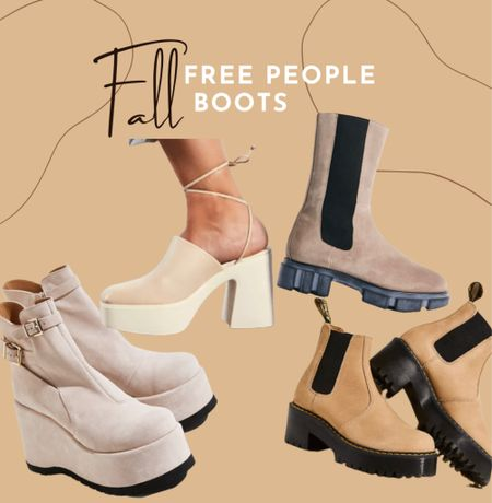 Fall booties Free people Suede  Boots   #LTKGiftGuide #LTKHoliday #LTKshoecrush