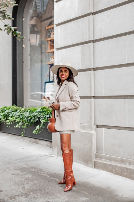Long story short, this blazer coat is back in stock hurry before it sells out again…  Runs big, size down. Wearing a 0     #LTKstyletip