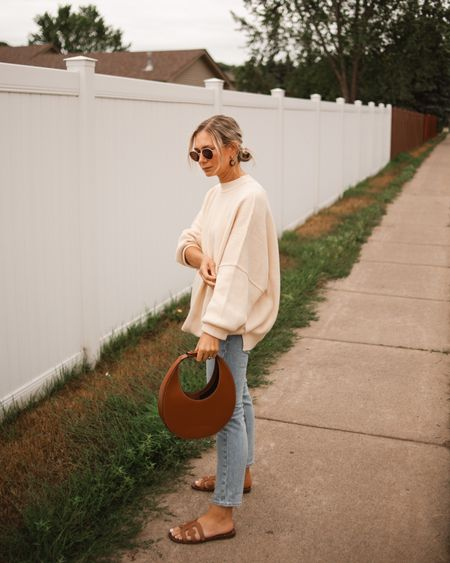 The coziest sweater to transition to fall. Runs big so size down.