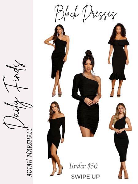 Black Dresses under $50  #LTKwedding #LTKstyletip #LTKunder50