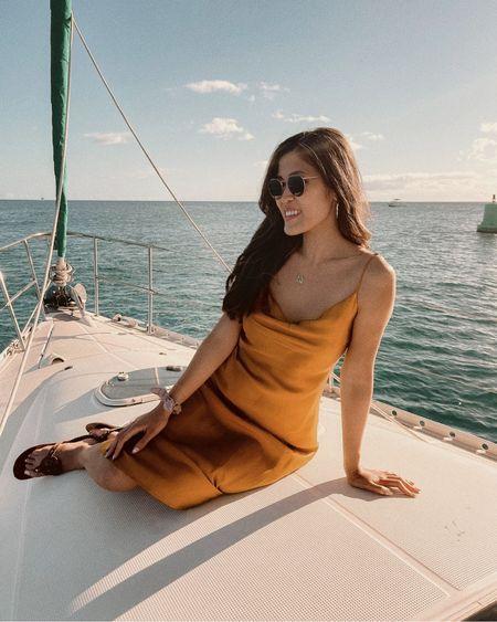 Satin dress for the summer time  Satin dress/yellow dress http://liketk.it/3iuJA #liketkit @liketoknow.it #LTKsalealert #LTKstyletip #LTKwedding