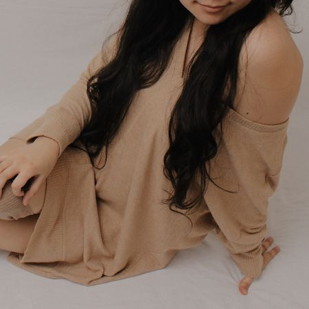 Lounging around in this comfy sweater dress 💕  http://liketk.it/2MGyI #liketkit @liketoknow.it  #StayHomeWithLTK #LTKunder50 #LTKsalealert
