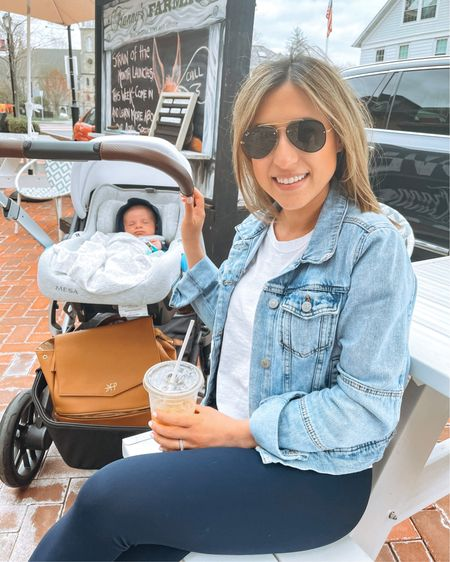 My new lunch date doesn't know I'm gonna eat his cheeks!  But also, this diaper bag and stroller were the best investments - both so conventient and make #newmom life so much easier.  Screenshot my pics to shop in the @liketoknow.it app & give me a follow! http://liketk.it/3cHoR #liketkit @liketoknow.it.family #LTKbaby #LTKfamily #LTKitbag also linking my favorite denim jacket