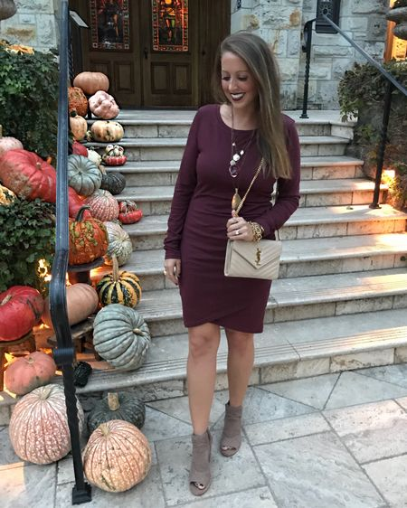 """Happy first day of Fall!!! This dress is an absolute favorite, is under $60 & comes in 8 colors!! Plus, pretty much everything I have on is one sale. I'm celebrating the equinox in the mountains & ready to see my cousin say """"I do"""" tonight! Check out my stories for more, & shop this look on the @liketoknow.it app by searching my insta name! http://liketk.it/2xrOt #liketkit #LTKitbag #LTKsalealert #LTKshoecrush #LTKstyletip #LTKunder100"""