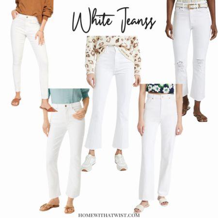White jeans for summer! http://liketk.it/3j9OM #liketkit @liketoknow.it #LTKhome #LTKunder100 #LTKstyletip