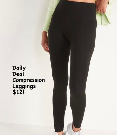 Old Navy daily deal is $12 compression leggings!!  #LTKfit #LTKsalealert #LTKunder50