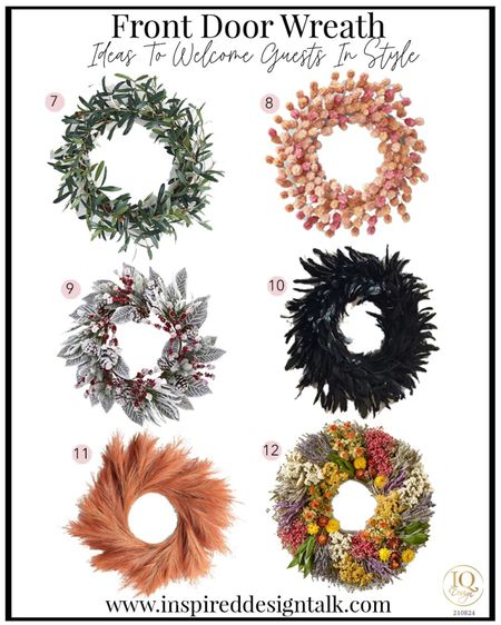 Update your front door with a trendy seasonal front door wreath.   Holiday decor, home decor, patio decor, Christmas decor, fall decor, back to school, herb wreath, moss Wreath, fall inspiration, holiday home decor   You can instantly shop my looks by following me on the LIKEtoKNOW.it shopping app   #LTKhome #LTKstyletip #LTKSeasonal
