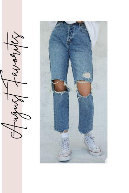 August Favorites- high rise straight leg jeans, Converse, denim under $75, fall outfits   #LTKunder100 #LTKstyletip #LTKshoecrush