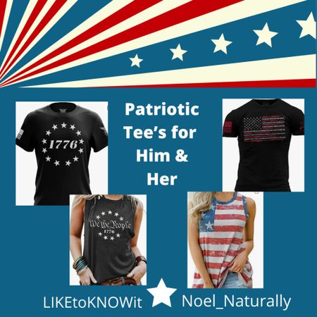 ❤️🤍💙 Being patriotic is one of my favorite things, and when the Fourth of July rolls around I'm not above matching with my guy! Here are some fabulous shirts to make your 4th sparkle! ❤️🤍💙  ❤️To shop this photo download the LIKEtoKNOWit app.   🤍 Follow me (Noel_Naturally) on the LIKEtoKNOW.it shopping app to get the product details for this look and others  💙 God Bless the USA! 🧨   #liketkit @liketoknow.it http://liketk.it/3hyhj