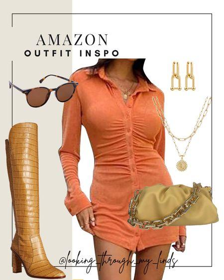 Fall outfits | fall dresses | fall boots | fall date night | amazon dress | Amazon Prime | amazon fashion | amazon fall | amazon find | fall amazon outfits   #LTKSeasonal #LTKshoecrush #LTKunder50