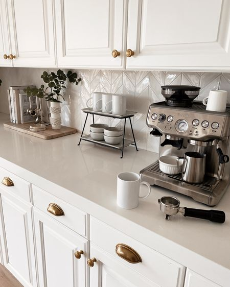 Coffee bar, espresso machine, kitchen accessories, kitchen essentials, neutral home decor, simple home decor, white kitchen, StylinByAylinHome  Follow my shop on the @shop.LTK app to shop this post and get my exclusive app-only content!  #liketkit  @shop.ltk http://liketk.it/3kxcR