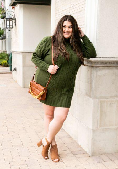 Plus size sweater dress @walmartfashion #walmartfashion @walmart #walmart #ad  #LTKunder50 #LTKcurves #LTKstyletip