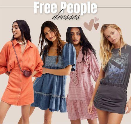 Free People dresses / summer style / casual style   #LTKunder100 #LTKstyletip #LTKsalealert