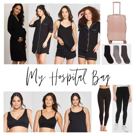 Here's what's in my hospital bag! {not shown: pillow, blanket, chargers, and loooots of adult diapers} @liketoknow.it #LTKbaby #LTKkids #LTKfamily #liketkit http://liketk.it/2HDag
