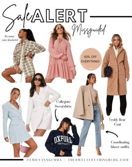 Missguided, Sale Picks, LTK Top Picks, Blazer, Blazer Dress, Teddy Bear Coat, Fall Outfit, Fall Fashion, Emily Ann Gemma , http://liketk.it/3o364  #LTKsalealert #LTKSale
