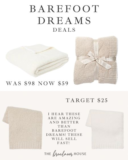 I hear that these barefoot dreams inspired blankets from target our amazing! There's actually a really great deal on the actual thing if you're interested in that as well!   Home decor, fall Decor, neutral Decor, white blanket, cream blanket, barefoot dreams inspired, Nordstrom rack, target home, target finds, Living Room Decor  #LTKunder50 #LTKhome #LTKsalealert