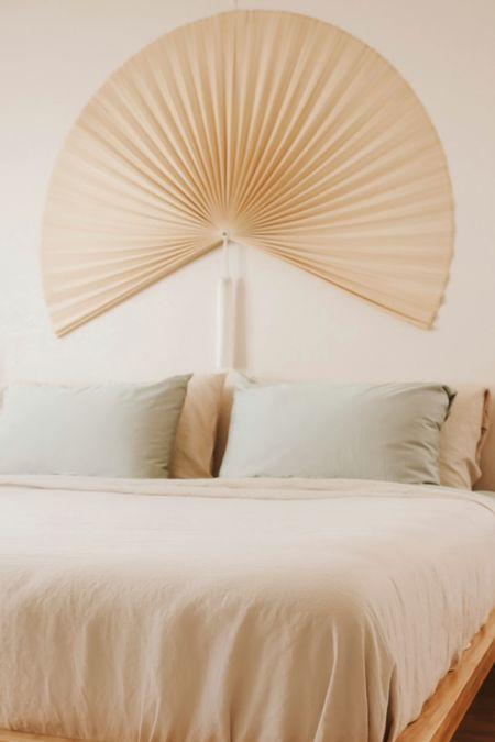 Fan for bedroom decor. Boho bedroom