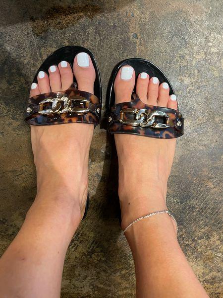 Jelly sandals size down   #LTKsalealert #LTKunder100 #LTKunder50